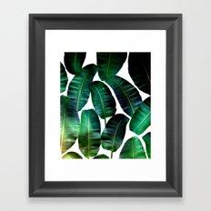 Cosmic Banana Leaves #society6 #decor #buyart Framed Art Print