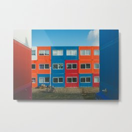 Colorful Container house Amsterdam Metal Print
