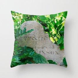 Charleston Unitarian Church Cemetery IV Throw Pillow