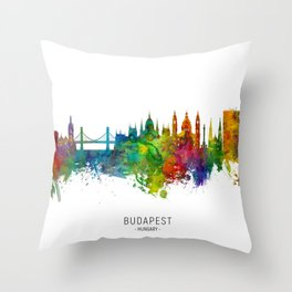 Budapest Hungary Skyline Throw Pillow
