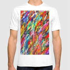 Colorful Waters Mens Fitted Tee MEDIUM White