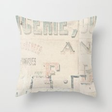 the writing on the wall ...  Throw Pillow