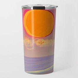 Red Moon Summer Vibrations Travel Mug