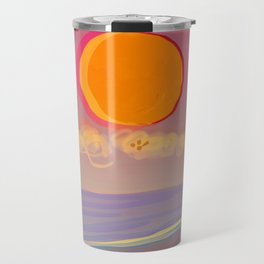 Red Moon Summer Vibrations Travel Mug