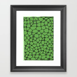 Yzor pattern 006-4 kitai green Framed Art Print