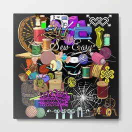 When Mama Made Everything Sew Easy Metal Print