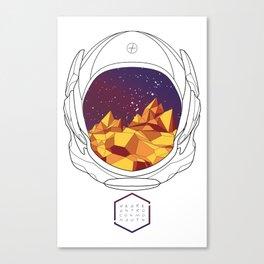 Helmet II (Purple Space) Canvas Print