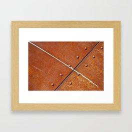 Rusty metal grunge Framed Art Print