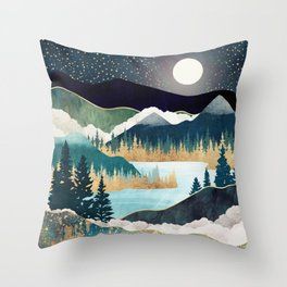 Star Lake Throw Pillow