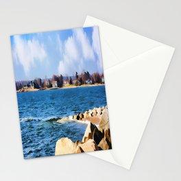 New England Shoreline - Painterly Stationery Cards