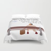 forrest gump Duvet Covers featuring Forrest Gump by Christina
