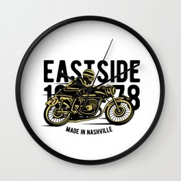 Eastside 1978 - Motocross, Motobike, Motorbike Rider T Shirt Wall Clock
