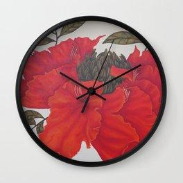 Spathodea Campanulata Wall Clock