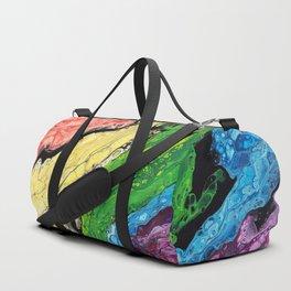 Abstract Rainbow (horizontal) Duffle Bag