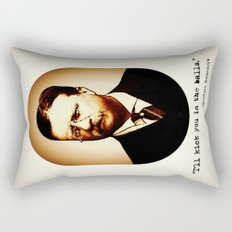 Theodore Roosevelt  |  I'll Kick You In The Balls  |  Famous Quotes Rectangular Pillow