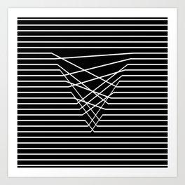 Line Complex Dark Triangle Art Print
