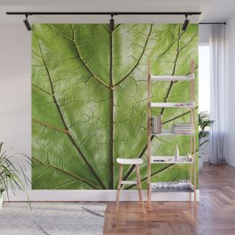 TROPICAL GREEN LEAF WITH  DARK VEINS DESIGN ART Wall Mural