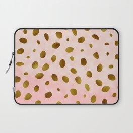 Blush Pink With Gold Foil Animal Print Pattern Laptop Sleeve