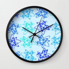 Blue Orbits Wall Clock