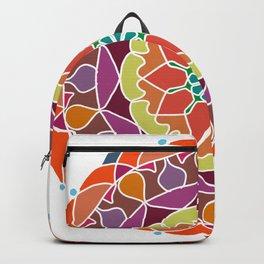 Flame mandala fractal design Backpack