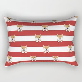 shiba inu stripes dog breed gifts Rectangular Pillow