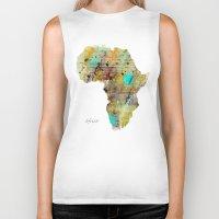 africa Biker Tanks featuring Africa by bri.buckley