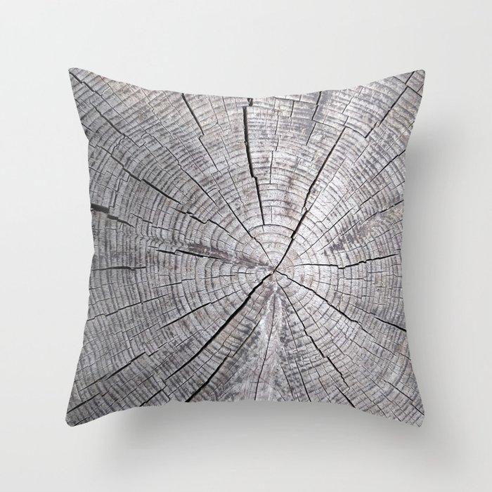 Wood Grain Throw Pillow