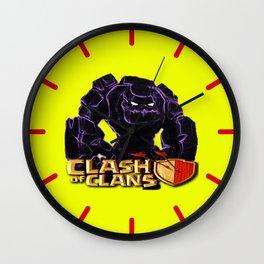 GOLEM,CLASH OF CLANS Wall Clock