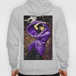 Boreas 1903 by John William Waterhouse in purple decor Hoody