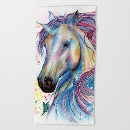 Whimsical Unicorn Beach Towel