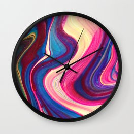 colorful abstract, abstract art, abstract painting, abstract design Wall Clock
