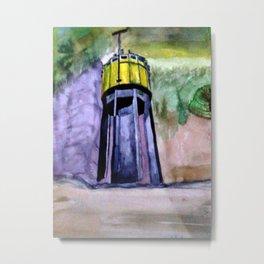 Wasserturm in Aquarell Niederbayern Metal Print