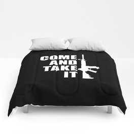 Come and Take it with AR-15 inverse Comforters