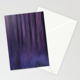 Painted Trees 2 Purples Stationery Cards