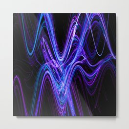 Frenetic Energy Abstract Graphic Design Metal Print