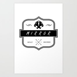Mirror Logo Art Print