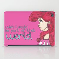 ariel iPad Cases featuring Ariel.  by Nic Moore