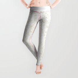 Elegant simple modern faux gold white floral Leggings