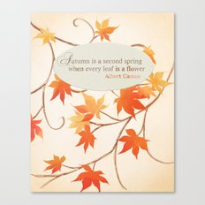 Autumn Leaves are like Flowers Canvas Print
