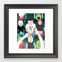 3D Movies Framed Art Print