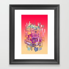 Building Clouds Framed Art Print