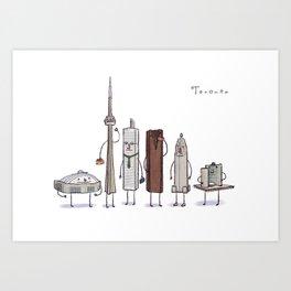 Toronto skyline art print Art Print