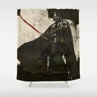 darth vader Shower Curtains featuring Darth Vader by Peter Coleman