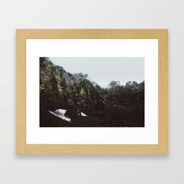 Hidden Mountains Framed Art Print