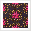Whimsical Watercolor Floral Pattern In Pink And Purple by borianagiormova