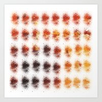brown Art Prints featuring Brown by zAcheR-fineT