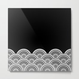 BLACK AND WHITE (abstract pattern) Metal Print