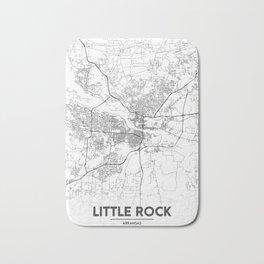 Minimal City Maps - Map Of Little Rock, Arkansas. Bath Mat