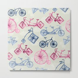 Crazy Bikes Metal Print