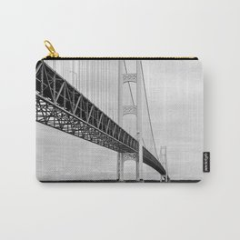 Mackinac Bridge, black and white photography Carry-All Pouch